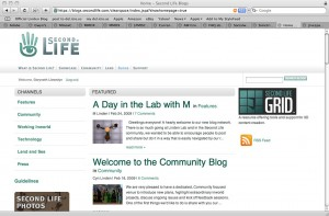 Second Life's New Blogs