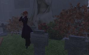 A gloomy day on the Neufreistadt cemetery