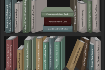 Supernatural medical bookcase