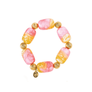 Pink and Yellow Candy Bracelet