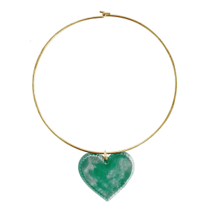 candy heart necklace full view