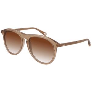 Chloe Transparent Orange Sunglasses product shot front detail
