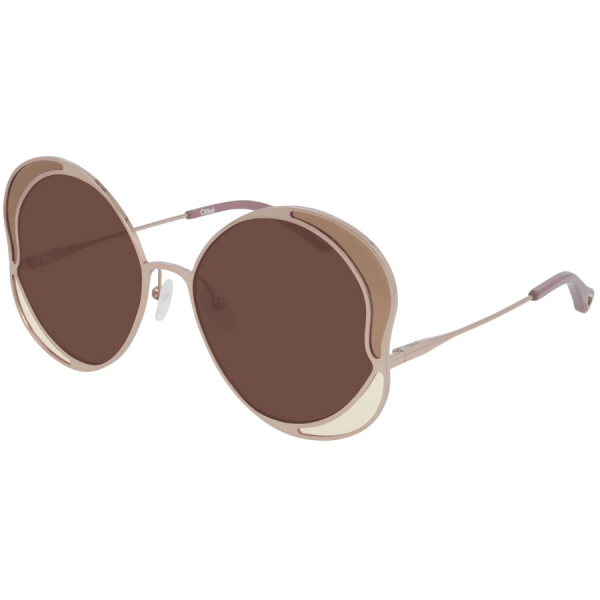Chloe Red Gold Frame Sunglasses product shot front side view