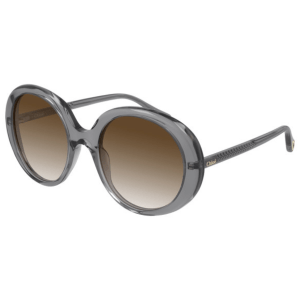 Chloe Transparent Grey Sunglasses product shot front side view