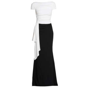 Bouvier Bicolor Stretch Crepe Gown