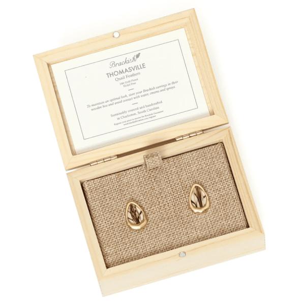 Thomasville Stud Earrings product shot packaging