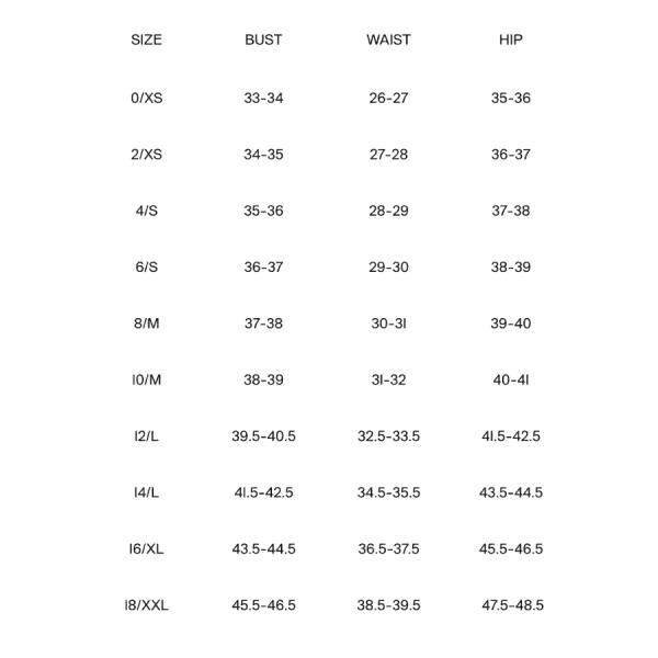 Lafayette Jacket Size Chart