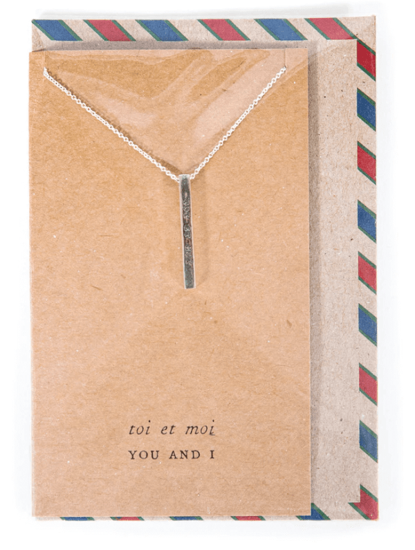 Air Mail French Bar Necklace
