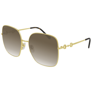 Oversize Gold Link Sunglasses