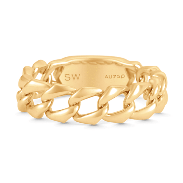 Lucia Thin Link Ring product shot front view