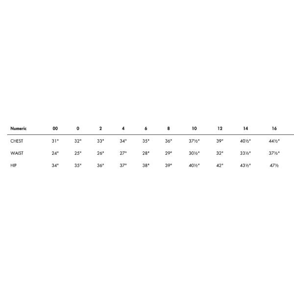 ALC Numeric Size Guide