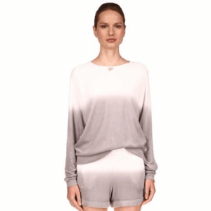 Cotton Terry Ombre Long Sleeve Crew product shot front view