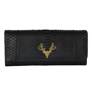 Harper Clutch in Black product shot front view