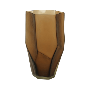 Amber Glass Vase product shot full front view