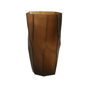 Amber Glass Vase Large product shot front view