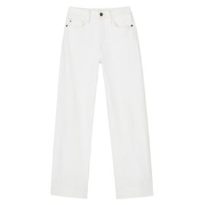 Lafayette 148 Wyckoff Wide-Leg Crop Jean in Washed Plaster product shot front view
