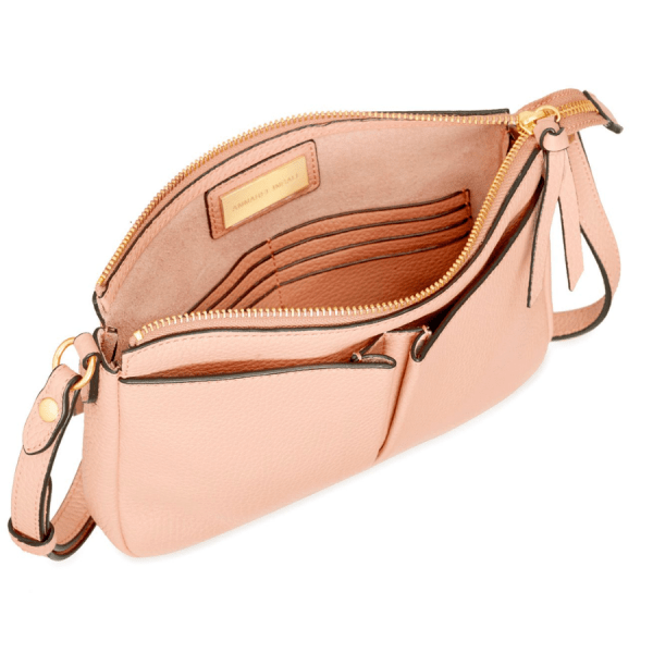 Annabel Ingall Crossbody in Rose product shot inside view