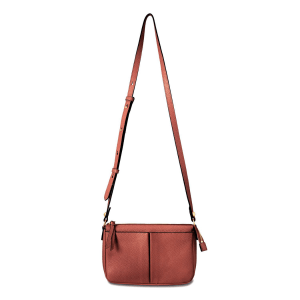 Annabel Ingall Crossbody in Saddle product shot front view