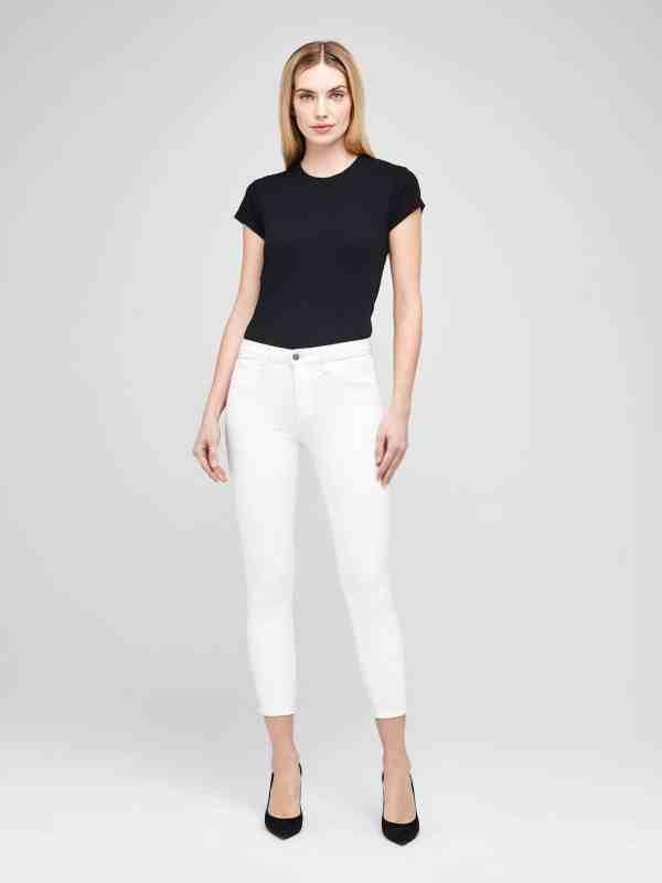 Margot High Rise Skinny in Blanc
