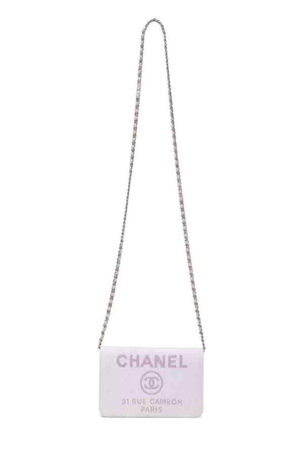 Chanel Pink Raffia Deauville WOC
