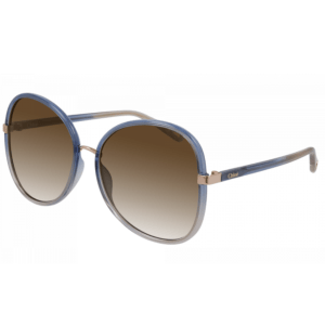 Blue Rimmed Sunglasses product shot front view