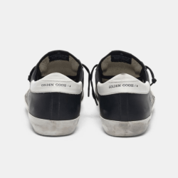 Black Superstar Sneakers product shot back view