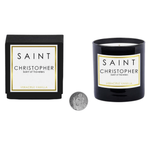 Saint Christopher Candle product shot front view
