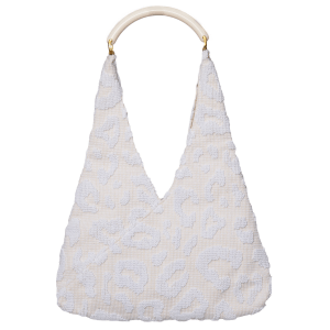Luna Bag in White product shot front view