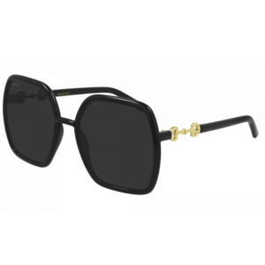 Black Chain Link Detail Sunglasses product shot front view