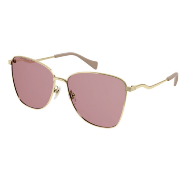 Gold and Pink Sunglasses product shot front view