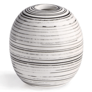 Enzo Striped Vase 3.5 product shot front view