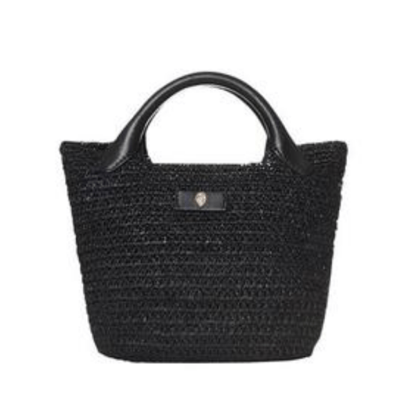 Cassia Mini Bag in Charcoal product shot front view