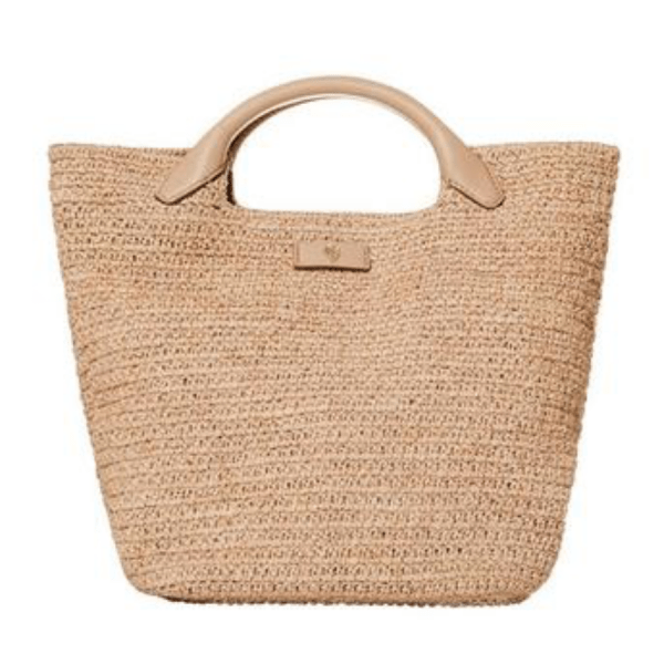 Cassia Small Handbag in Natural product shot front view