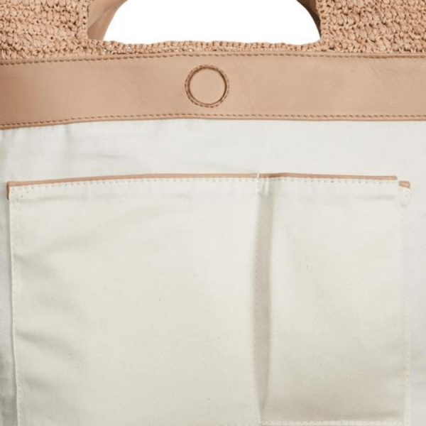 Cassia Small Handbag in Natural product shot inside view