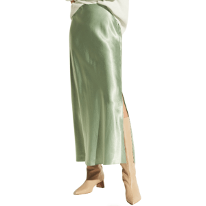 Side Slit Split Skirt