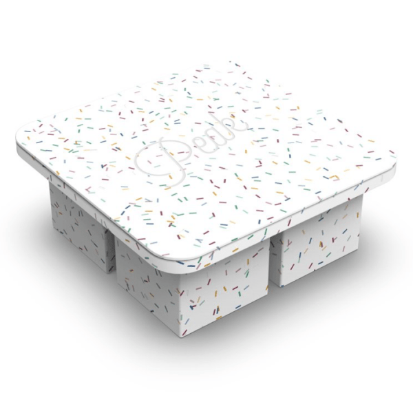 Extra Large Ice Tray in Speckled White product shot without packaging