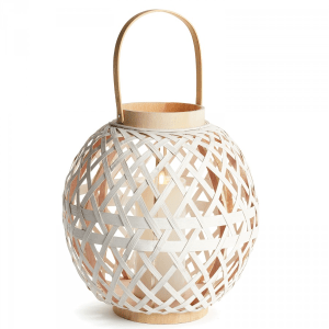 Round Bamboo Lantern product shot front view