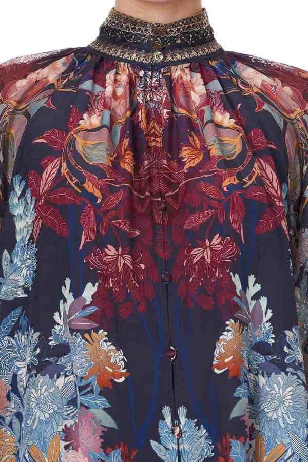 Raglan Button Up Shirt
