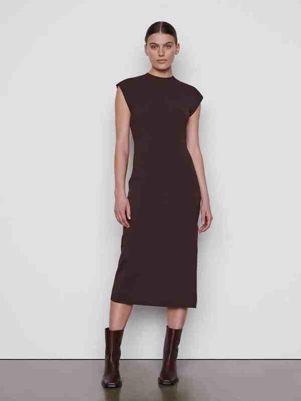 Cap Sleeve Rib Dress