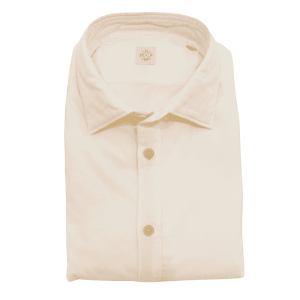 Solid Spread Collar Shirt in White
