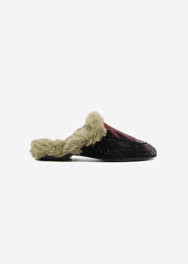 Fur Lined Slide