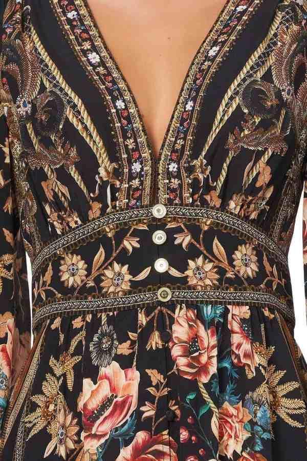 Curved Waistband Short Dress