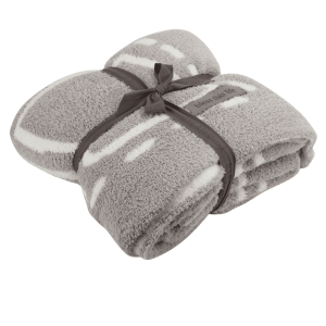 Cozychic Covered in Prayer Throw in Oyster Pearl