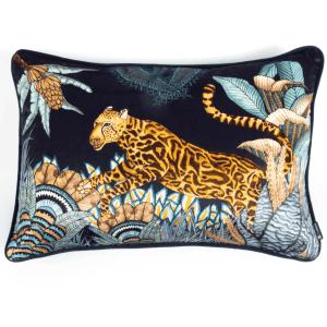 Sable Pillow Cheetah Kings Forest Velvet