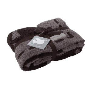 Cozychic Covered in Prayer Throw in Charcoal Espresso