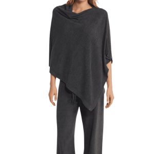 Cozychic Ultra Lite Poncho in Carbon