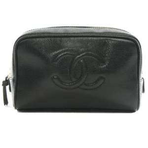 Chanel Black Caviar Cosmetic Bag