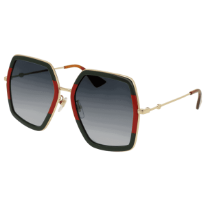 Green and Red Rectangle Sunglasses