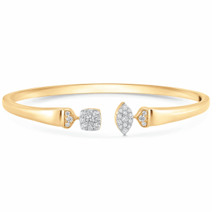Unity Reverie Gold and Marquise and Cushion Diamond Cuff