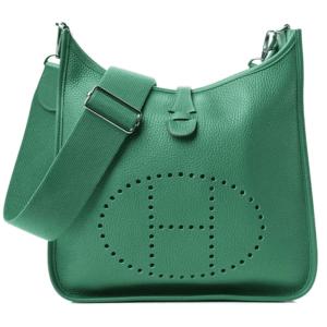 Hermes Green Clemence Evelyne III PM